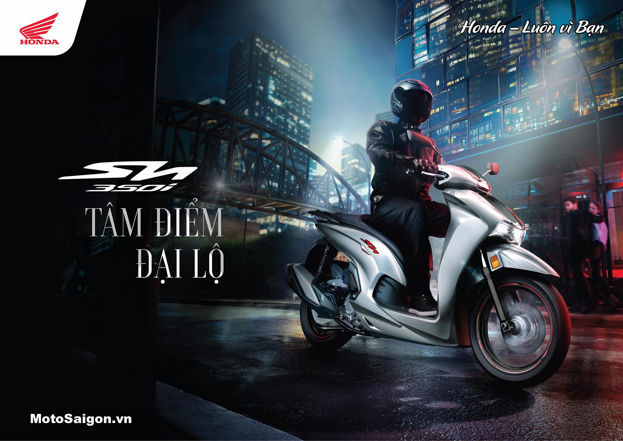 Giá xe Honda Sh350i 2021 chính hãng đã được Honda Việt nam công bố chính thức