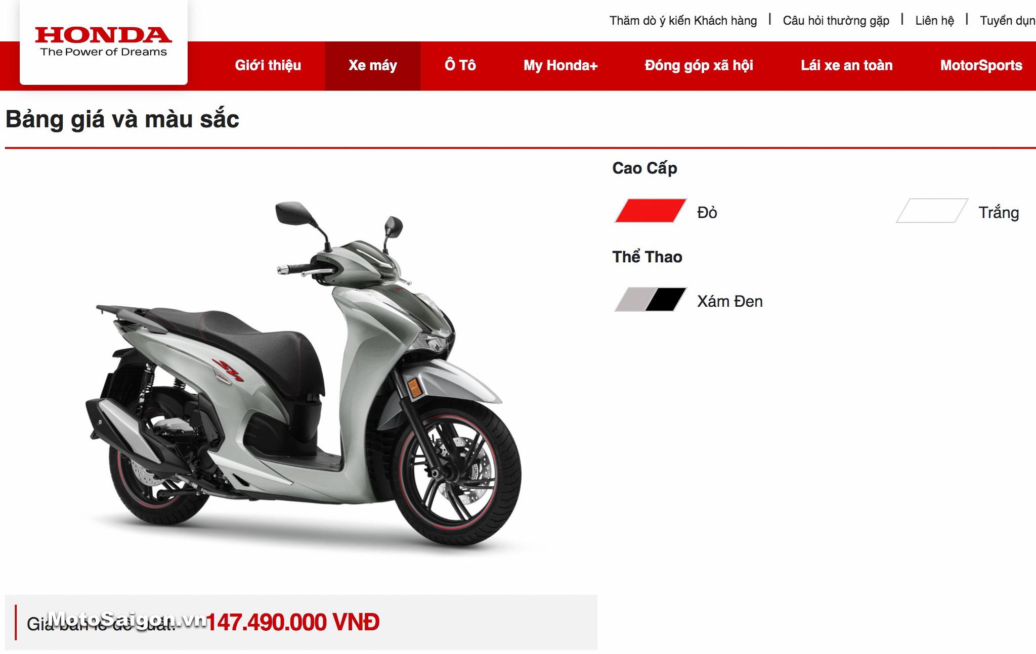 Giá xe Honda Sh350i 2021 chính hãng