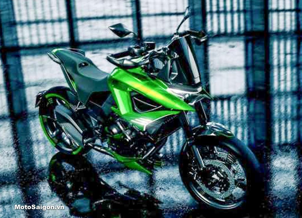 Kawasaki Versys 2022 lộ ảnh concept với ngoại hình mới hiện đại