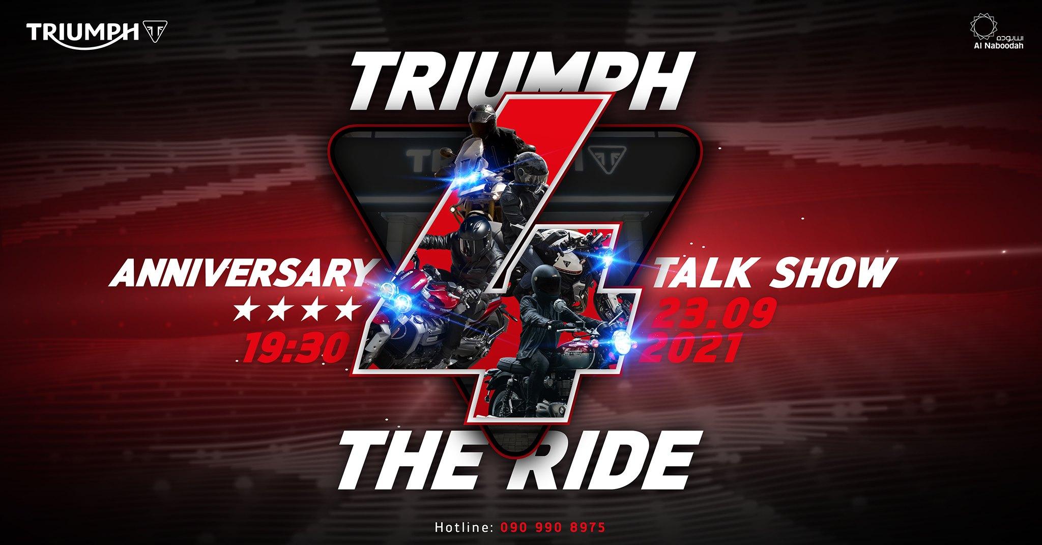Triumph Việt Nam sẽ tiết lộ nhiều bất ngờ tại sự kiện TRIUMPH 4 THE RIDE