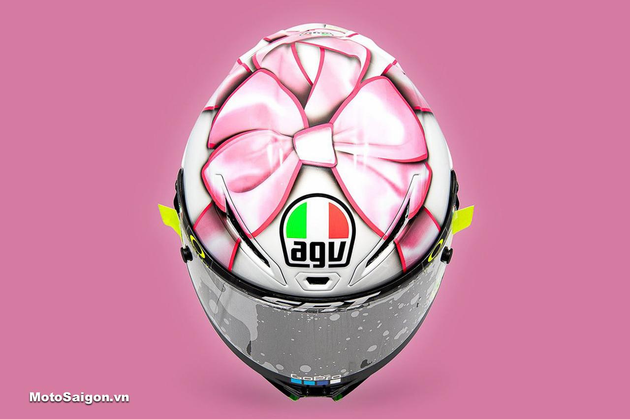 Nón bảo hiểm AGV bản đặc biệt kỷ niệm con gái sắp chào đời của Rossi VR46