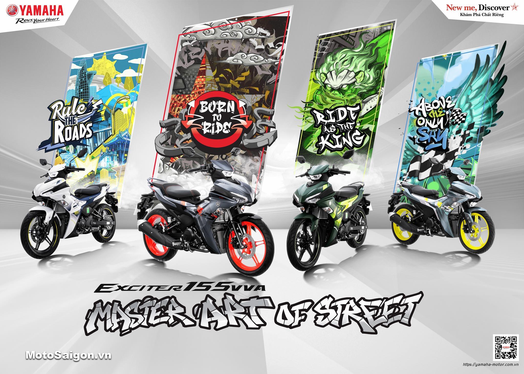 """Cuộc thi độ xe Exciter 155 VVA """"Master Art Of Street"""" - Sân chơi dành cho những biker đầy đam mê và cá tính"""