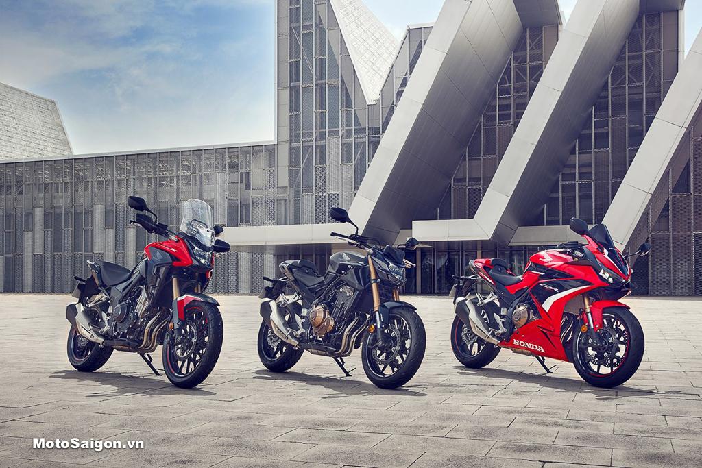 Honda CB500X CBR500R CB500F 2022 có nhiều nâng cấp đáng giá