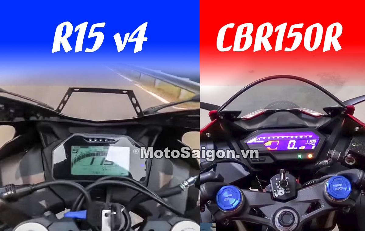 R15 v4 thử tốc độ tối đa với top speed của Honda CBR150R 2021