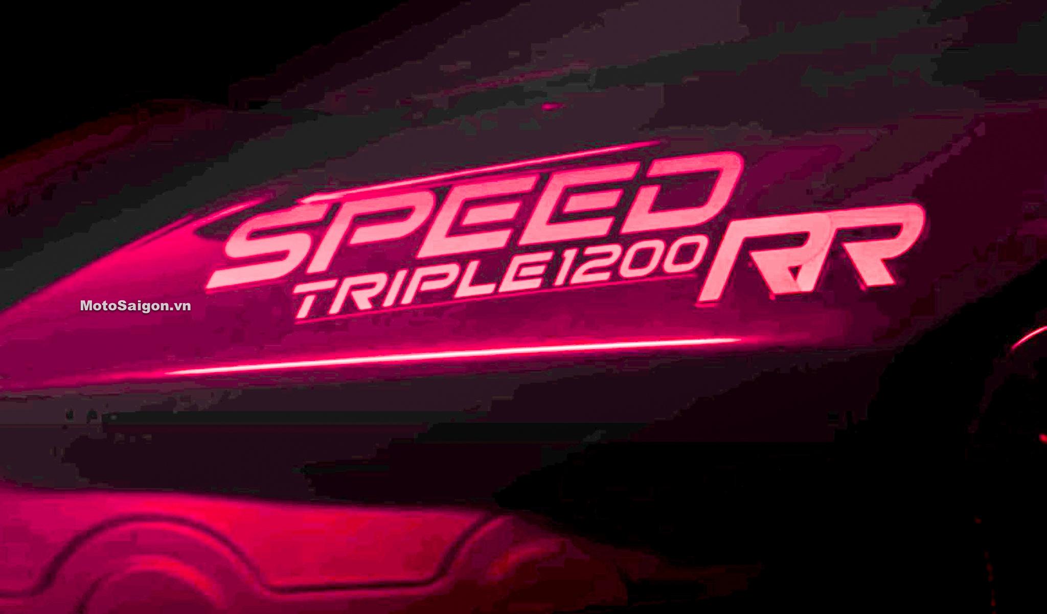 Speed Triple 1200 RR mẫu xe Retro Sport của Triumph lộ hình ảnh trong clip teaser