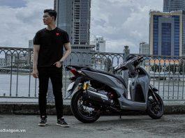 Honda Sh300i độ cực đẹp với phối màu xám đen kèm loạt đồ chơi đáng tham khảo